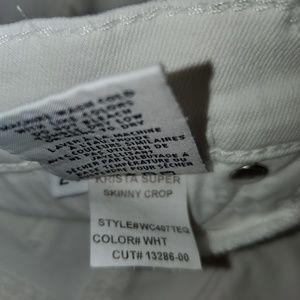 Hudson Jeans Jeans - HUDSON Jeans 'Krista' Super Skinny Crop in White